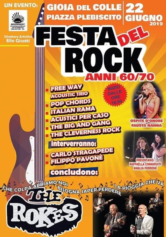 """''Festa del Rock anni 60-70"""" - Grande attesa a Gioia del Colle per la Maratona Musicale all'insegna del Rock"""