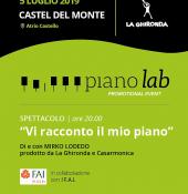 Piano Lab 2019 -  ''Vi racconto il mio piano'', di e con Mirko Lodedo