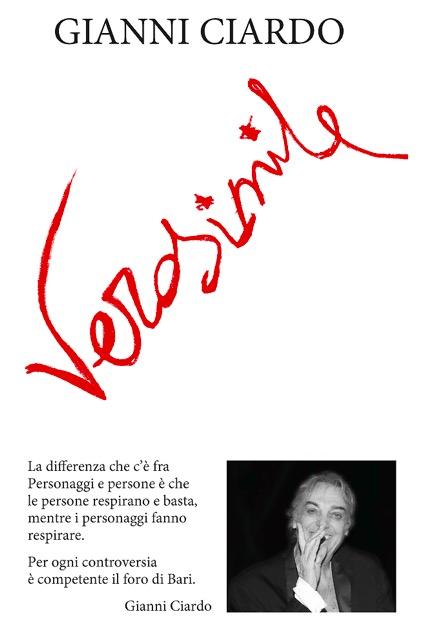 ''Verosimile'', in Feltrinelli il nuovo libro di Gianni Ciardo