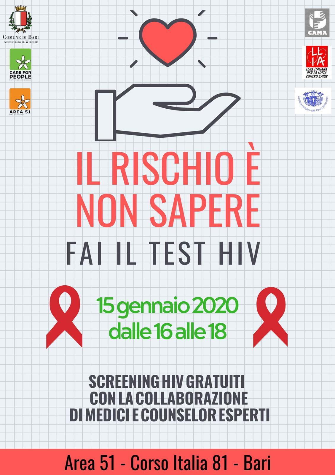 TEST HIV SALIVARE ANONIMO E GRATUITO