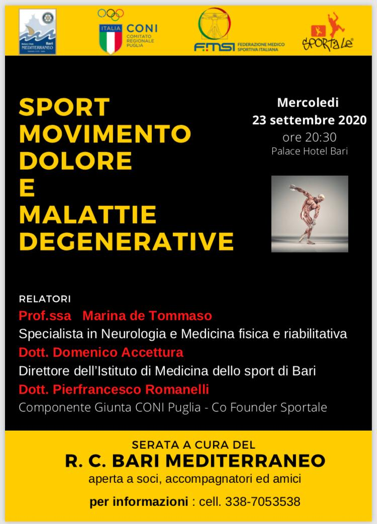 Sport, movimento, dolore e malattie degenerative
