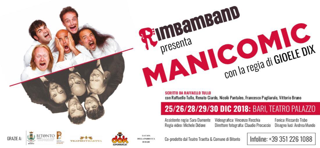 """Presentato alla stampa il nuovo spettacolo """"Manicomic"""" - A dicembre debutta a Bitonto e a Bari"""